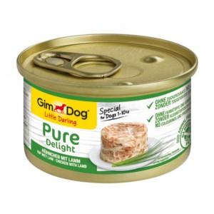 Купить консервированный корм из Германии, влажный натуральный консервированный корм для собак, консерва ДжимДог «GimDog Chicken With Lamb» с мясом курицы и ягненка, доставка консерв для собак по Киеву и Украине