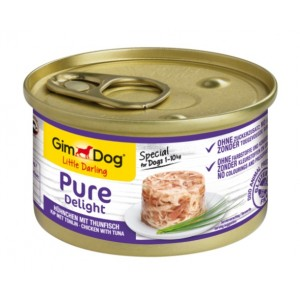 GimDog Little Darling Pure Delight Chicken With Tuna - влажный корм для собак / курица и тунец