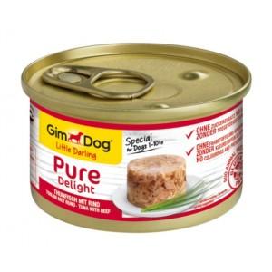 GimDog Little Darling Pure Delight Tuna With Beef - влажный корм для собак / тунец и говядина