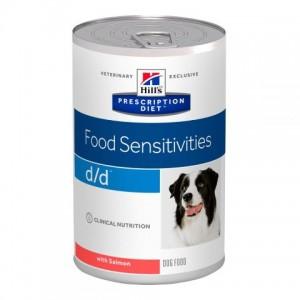 Консервированный лечебный корм Hill's PD D/D Salmon из США, консервы для собак при пищевой аллергии, полноценный диетический рацион для собак с лососем Хиллс «Hill's Prescription Diet D/D Salmon» - Petplus