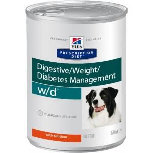 Консервированный лечебный влажный корм «Hill's PD W/D Canine» | Консервы для собак при сахарном диабет и поддержании оптимального веса | Petplus
