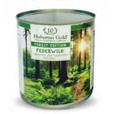 Hubertus Gold Canned Food For Adult Menu Feder Wild - консервы для собак с пернатой птицей