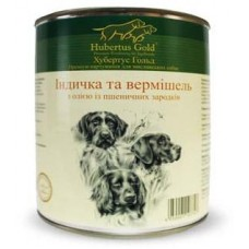 Hubertus Gold Canned Food For Adult Menu Turkey&Noodle - консервы для собак с индейкой и вермишелью