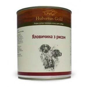 Купить Hubertus Gold, консервы для собак, Хубертус Голд говядина с рисом, доставка корма для собак по Украине