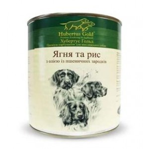Купить Hubertus Gold, консервы для собак, Хубертус Голд ягнёнок с рисом, доставка корма для собак по Украине