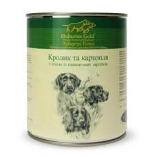 Hubertus Gold Canned Food For Dogs Menu Rabbit&Potatoes - консервы для собак с кроликом и картошкой