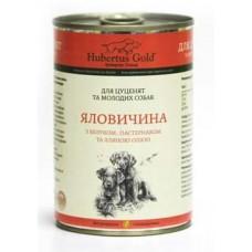 Hubertus Gold Canned Food For Junior Menu Beef&Apples - консервы для щенков с говядиной и яблоками
