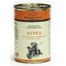 Hubertus Gold Canned Food For Junior Menu Chicken&Potatoes - консервы для щенков с курицей и картофелем