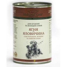 Hubertus Gold Canned Food For Junior Menu Lamb&Beef - консервы для щенков с ягненком и говядиной