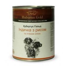 Hubertus Gold Canned Food For Dogs Menu Turkey&Rice - консервы для собак с индейкой и рисом