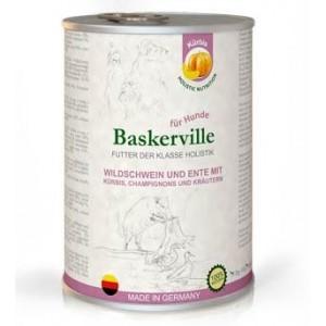 Консервы для собак с мясом кобана, утки и зеленью «Baskerville Sensitive» - это полнорационный влажный корм класса холистик - не вызывает аллергию | Petplus