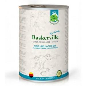 Консервы для собак с мясом говядины и зеленью «Baskerville Sensitive» - это полнорационный влажный корм класса холистик - не вызывает аллергию | Petplus