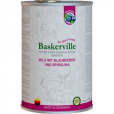 Baskerville Sensitive Wild Mit Blaubeeren Spirulina - консервы для собак с олениной, черникой и спирулиной