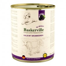 Baskerville Super Premium Kalb Mit Brombeeren - консервы для щенков с телятиной и ежевикой