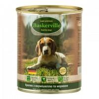 Baskerville Wet Food Rabbit&Noodles&Carrots - консервы для собак с кроликом, лапшой и морковью