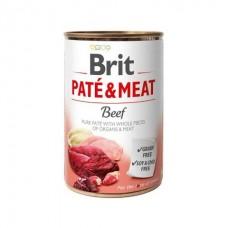 Brit Pate & Meat Beef - влажный консервированный корм для собак / с говядиной