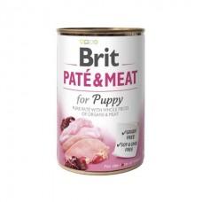 Brit Paté & Meat Puppy - влажный консервированный корм для щенков / с курицей
