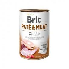 Brit Pate & Meat Rabbit - влажный консервированный корм для собак / с кроликом