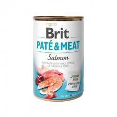Brit Pate & Meat Salmon - влажный консервированный корм для собак / с лососем