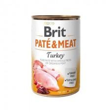 Brit Pate & Meat Turkey - влажный консервированный корм для собак / с индейкой