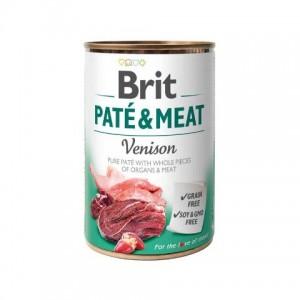 Brit Pate and Meat Venison - влажный консервированный корм для собак / с олениной