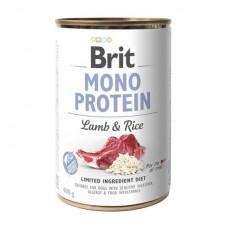 Brit Mono Protein Lamb& Rice - консервы для собак / с ягнёнком и рисом