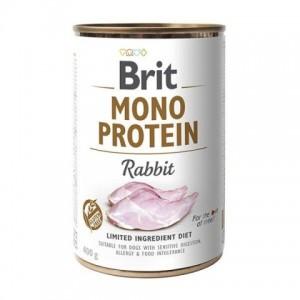 Влажный корм для собак с чувствительным пищеварением, пищевой аллергией или пищевой непереносимостью «Brit Mono Protein Rabbit»   консервы Brit Mono Protein для собак с мясом кролика   Petplus