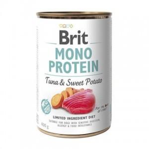 Влажный корм для собак с чувствительным пищеварением - замечательный вкус и аромат «Brit Mono Protein Tuna&Sweet Potato» | консервы: Брит Моно Протеин для собак с мясом тунца и сладким картофелем | Petplus