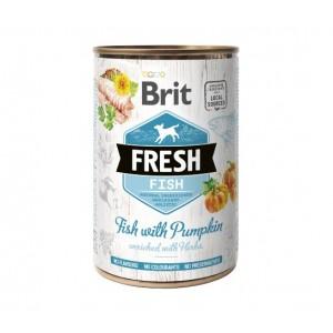 Brit Fresh Fish with Pumpkin - влажный консервированный корм для собак / рыба