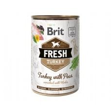 Brit Fresh Turkey with Peas - влажный консервированный корм для собак / индейка