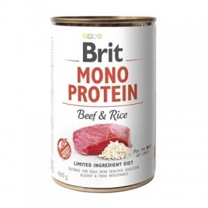 Brit Mono Protein Beef and Rice - консервы для собак / с говядиной и темным рисом