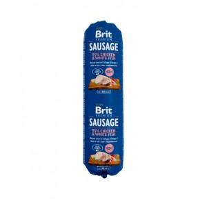 Brit Premium Dog Sausage Chicken and White fish - колбаса для собак с курицей и белой рыбой