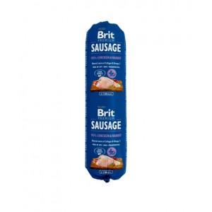 Brit Premium Dog Sausage Chicken and Rabbit - колбаса для собак с курицей и кроликом