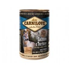 Carnilove Dog Salmon & Turkey- консервы для собак с лососем и индейкой