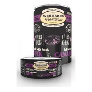 Натуральные консервы для собак: «Овен-Бакед Традишн» - влажный корм приготовленный из свежего утиного паштета для собак | Дополнительное беззерновое питание Oven-Baked Tradition GF Dog Duck Pâté - консервы из Канады | Petplus