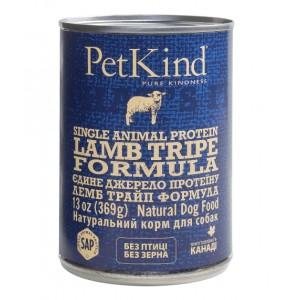 Консервированный влажный корм из Канады, натуральный монопротеиновый влажный корм для собак и щенков, консервы с витаминными добавками, питательные, легкоусвояемые, ПетКайнд «PetKind Lamb Tripe Single Animal Protein Formula» с ягНенкОм и оВечьИм рУбцОм -