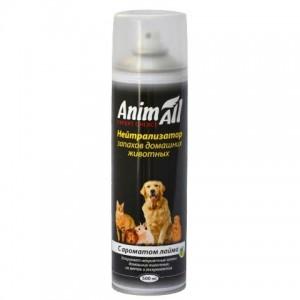 AnimAll Нейтрализатор запаха домашних животных   Аэрозоль с ароматом лайма