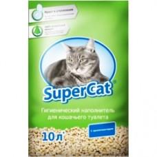 SUPER CAT - древесный наполнитель для кошачьего туалета / зеленый