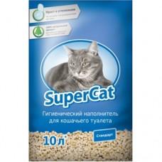 SUPER CAT - древесный наполнитель для кошачьего туалета / стандарт / синий