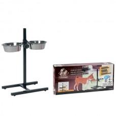 Karlie-Flamingo H-FRAME WITH DISHES подставка металлическая 2 миски для собак