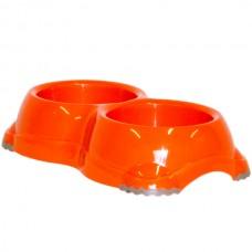 Moderna Double Smarty Bowls - двойная миска пластиковая для собак и котов №1 (2Х330мл) d-11 см
