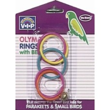 Vo-Toys ОЛИМПИАДА С КОЛОКОЛЬЧИКОМ игрушка для попугайчиков, пластик