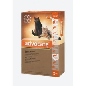 Средства защиты Bayer Advocate (Адвокат), для кошек до 4 кг