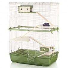Imac РЭТ 80 ДАБЛ ВУД (RAT 80 DOUBLE WOOD) клетка для крыс, пластик(80х48,50х108,50 см.)