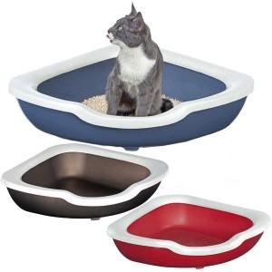 Imac ФРЭД (FRED) угловой открытый туалет для кошек, пластик (51х51х15,5 см.)