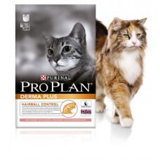 Purina Pro Plan Derma Plus - корм для кошек с чувствительной кожей / с лососем