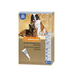 Средства защиты Bayer Advocate (Адвокат), капли для собак более 25 кг