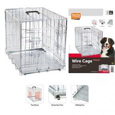 Karlie-Flamingo WIRE CAGE 2-х дверная хромированная клетка для собак