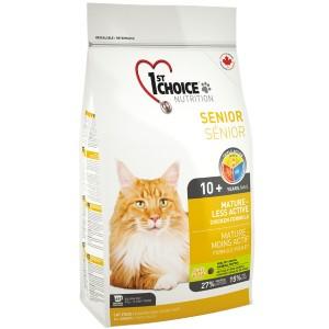 1st Choice «Фест Чойс» Senior Mature Less Aktiv ▪ сухой супер премиум корм для пожилых или малоактивных котов
