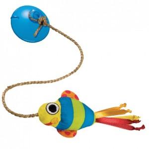 PETSTAGES Dangling Fish • Игрушка для кошек «Рыбка на присоске»